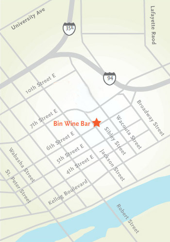 map to bin bine bar